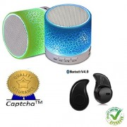 Captcha Unifree Rechargeable Bluetooth Speaker With Led Wireless Audio Receiver For LG