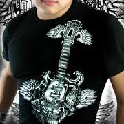 Poison Apple Guitar Short Sleeved T Shirt