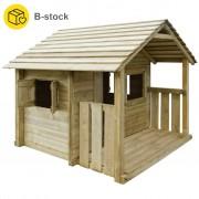 vidaXL Domeček na hraní se 3 okny 204x204x184 cm dřevěný