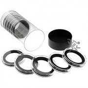 Black Lid Capsule Tube & 10 Air-Tite X Deep 38mm Black Ring Coin Holders for Queen's Beast Coins
