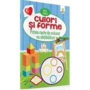 Culori Si Forme - Prima Carte De Colorat Cu Abtibilduri 2 Ani+