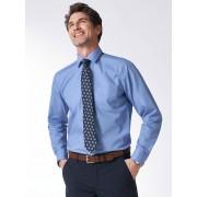 Walbusch Extraglatt-Hemd Kent-Kragen Blau 43