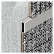 UPD257 - Profil U decorativ din aluminiu eloxat, A=10mm, l=25mm