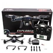 Yacool ®RC Quadcopter con 2MP cámara 6 Axis Gyro DM007 Spy Exploradores de 4 canales 2.4GHz Negro