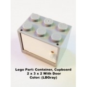 Lego Parts: Container Cupboard 2 x 3 x 2 With Door (LBGray)
