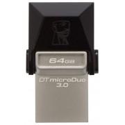 Stick de memorie Kingston DataTraveler microDuo 3.0 64GB USB 3.0 microUSB negru + bej