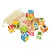 Shumee Alphabet Blocks - Wooden Block Toys for Kids and Toddlers