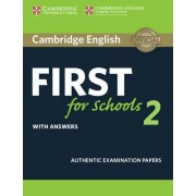 Cambridge English First for Schools 2 Student's Book with Answers: 2