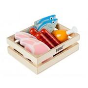 Tidlo : Pretend Play Food : Wooden Meat & Fish