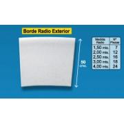 Radio borde piscina Blanco y Granallado 50 cm exterior