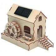 Grupo Sol-EXPERT SWM - molino de agua solar, kit, madera, natural