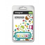 Integral USB Flash Drive Xpression Owls 8GB USB 2.0