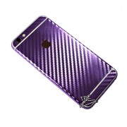 "Folie Iphone 6 / Iphone 6S ""Carbon fiber gear"" TIP CARBON MIRROR PURPLE"