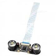 Junta 5.0MP lente de la camara IR Noche Vison LED para Raspberry Pi B / B +