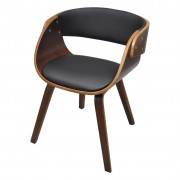 vidaXL Hnedá drevená jedálenská stolička