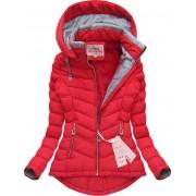Dámská zimní bunda - červená Velikost: M