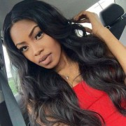 rosegal Perm Dyed Middle Parting Body Wave Long Synthetic Wig