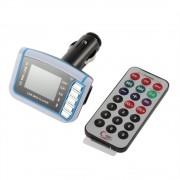 FM transmitter MP3 prehrávač do auta s LCD displejom a dialkovým ovládačom