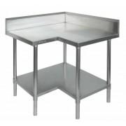 Stainless Steel Corner Bench 900/900 W x 600 D