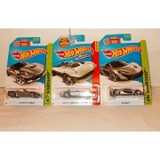 Mattel Hot Wheels Silver Sports Car Package - 3 Cars, McLarin P1, 14 Corvette Stingray, Fast & Furious Corvette Grand Sport Roadster