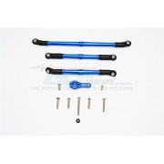 Axial SCX10 II Upgrade Parts (AX90046, AX90047) Aluminium Adjustable Steering Links With 25T Servo Horn - 4Pcs Set Blue