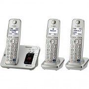 Panasonic KX-TGE263S Link2Cell Bluetooth Enabled Phone with Answering Machine, 3 Cordless Handsets