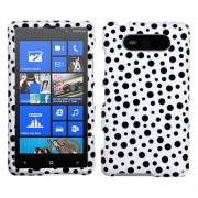 Funda Protector Nokia Lumia 820 Blanco con Puntos Negros