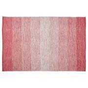 Tapis design 'WASH' 160x230 cm rouge en coton