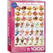 """Eurographics Puzzle 1000 Pezzi- Ice Cream Flavours """"""""New"""""""" (Eg60000590)"""