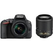 Nikon d5500 + 18-55mm af-p dx vr + 55-200mm vr ii - nero - man. ita