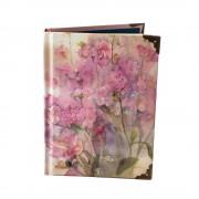 Agenda creativa cu trandafiri roz pictati