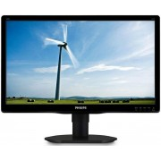 "Monitor LED Philips 19.5"" 200S4LYMB, HD+ (1600 x 900), VGA, DisplayPort, 5 ms, Boxe, Pivot (Negru)"