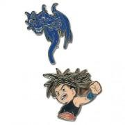 Blue Dragon Shu & Blue Dragón Pin Metalico