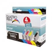 Pack Quattro Print T18XL 4 cartouches compatibles (Pâquerette)