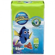 Huggies Little Swimmers Disposable Swim Diapers Small 12-Count - Pink/Blue