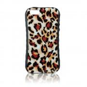 Калъф силиконов с кожен гръб Fashion Style за IPhone 5s пантера