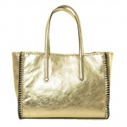 Borsa Donna Gold in Vera Pelle Made in Italy