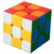 Satemi 2 Pcs 3x3x3 Rubiks Cube Speed Smooth Stickerless Colorful Puzzle Toy Magic Game
