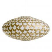Ovale hanglamp Sidy, motief Ikat