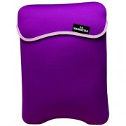 "MANHATTAN - Custodia double face per notebook, ideale per schermi fino a 39,1cm (15,4""), colore: Viola/Beige"