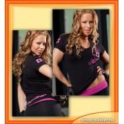 Figure Star Women V neck T-shirt (elastan)