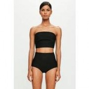 Missguided Black Bandage High Waisted Knickers, Black