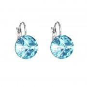 Cercei cu cristale Swarovski FaBOS, Aquamarine 7440-4526-12