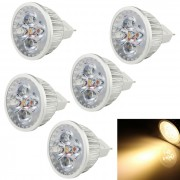 YouOkLight GX5.3 4W MR16 4 LED Spot Calido Spotlight Bombilla Blanca (6PCS)