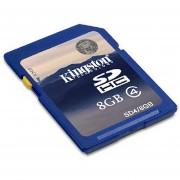 Cámara Memoria Flash SDHC Tarjeta Kingston SD4 8GB Clase 4 Azul