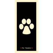 """Pet Rebellion futtató szőnyeg """"Fekete mancs"""" mintával 45x100 cm-es"""