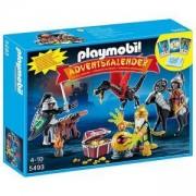Комплект Плеймобил 5493 - Коледен календар - Битка за съкровището на дракона - Playmobil, 290994
