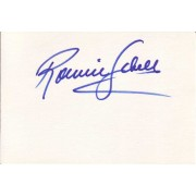 Ronnie Schell Autographed Index Card