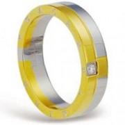 Luxusní ocelový prsten III gold