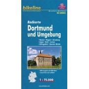 Fietskaart NRW05 Bikeline Radkarte Dortmund und Umgebung | Esterbauer